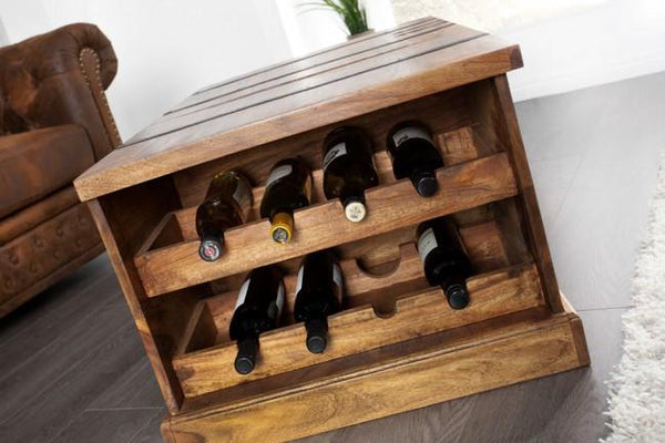 Solid Wood Country Wine Box Bar