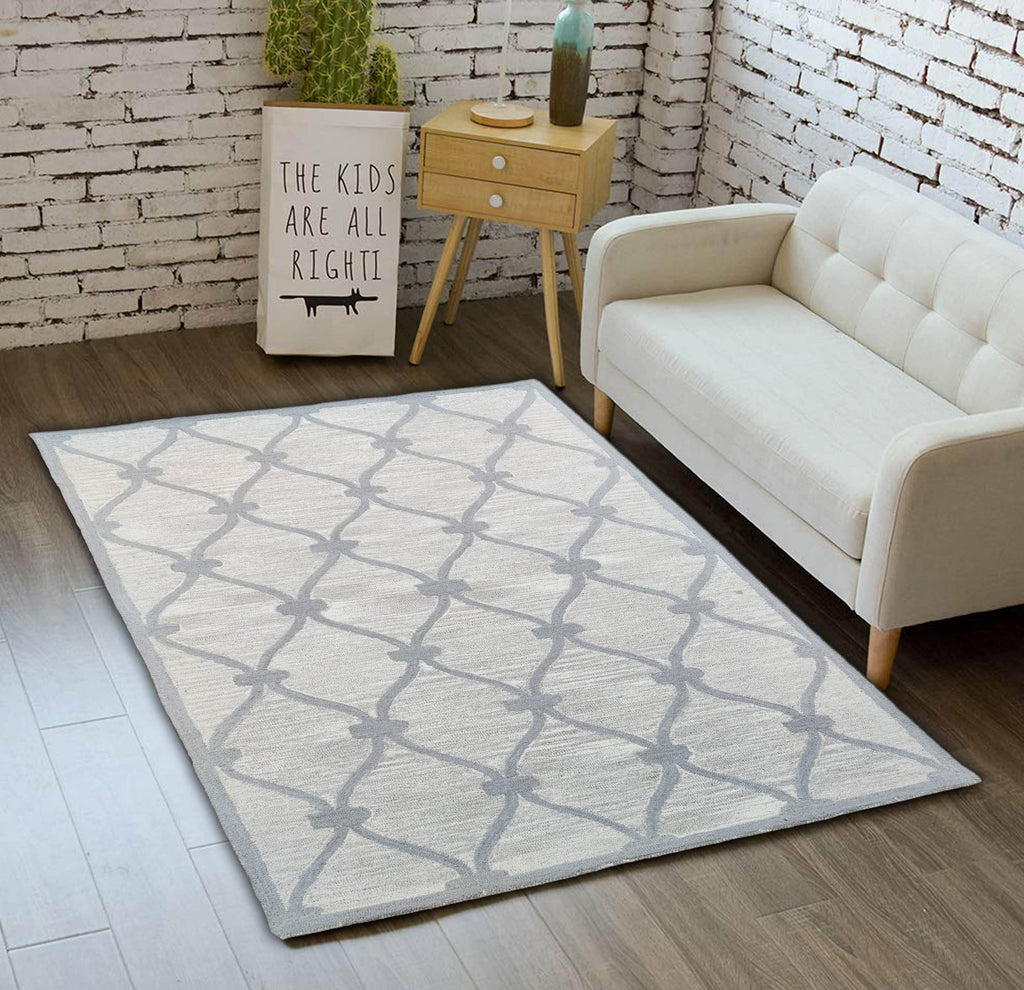 Myro Sand Hand Tufted Wool Carpet 8 x 5