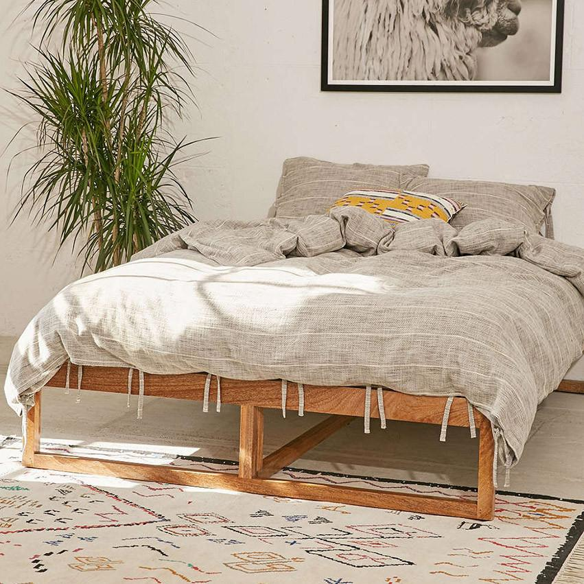 Solid Wood Cubox Classic Bed