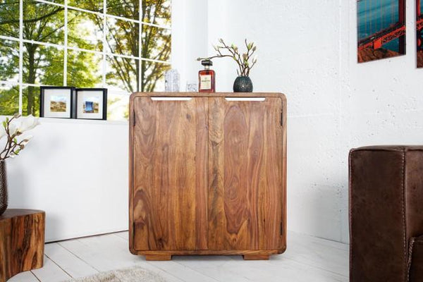 Solid Wood Curved Bar
