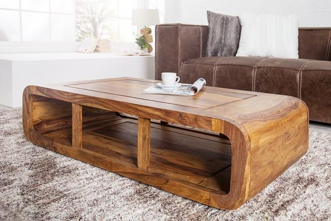 Buy Solid Wood Curved Coffee Table Online | New Launches ...