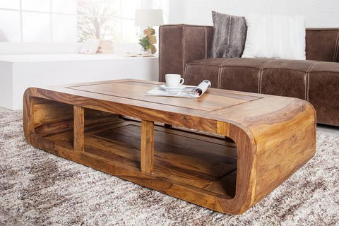 Great EXTRA 10% OFF Solid Wood Curved Coffee Table