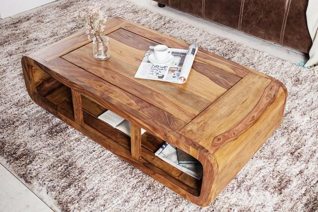 Solid Wood Curved Coffee Table Saraf Furniture Furniture
