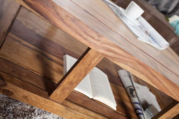 Solid Wood Curved Coffee Table