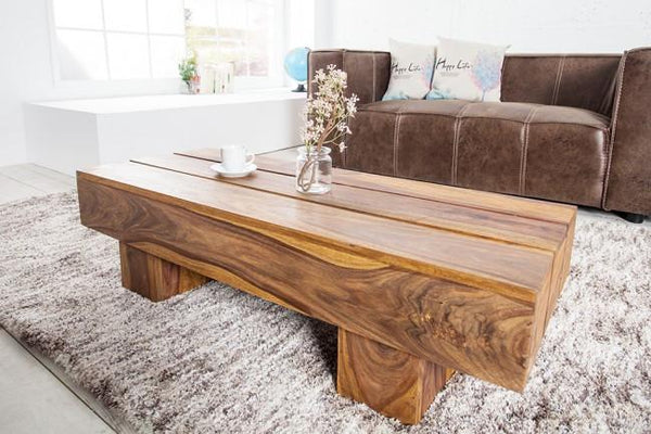 Solid Wood Contrast Coffee Table
