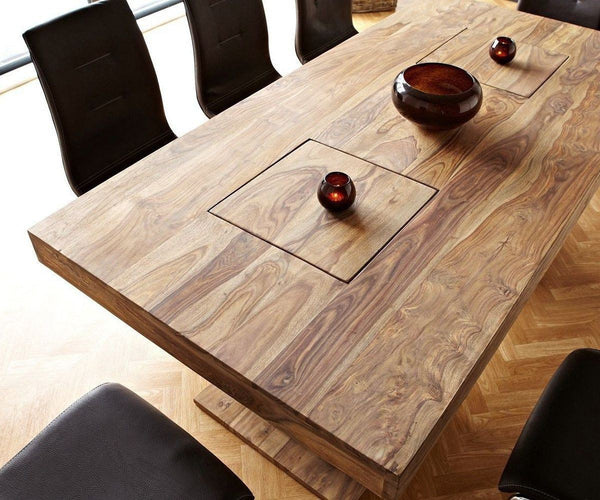 Solid Wood Frozen Dining Set