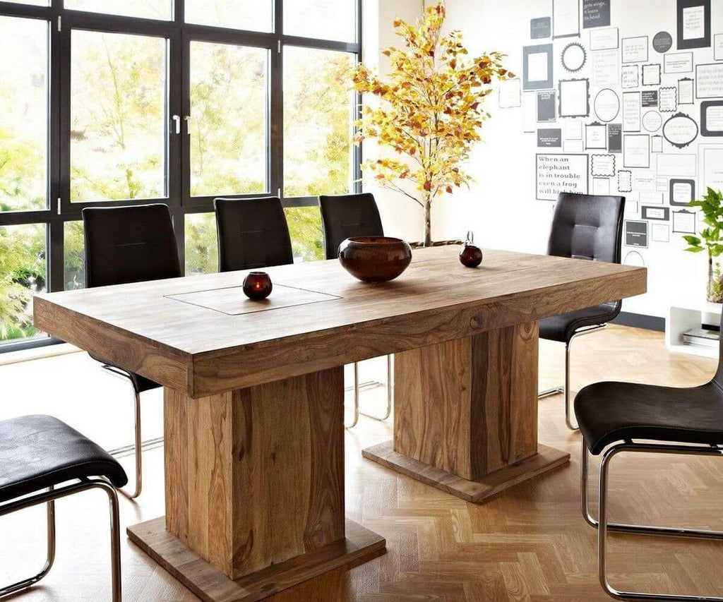 Solid Wood Frozen Dining Table