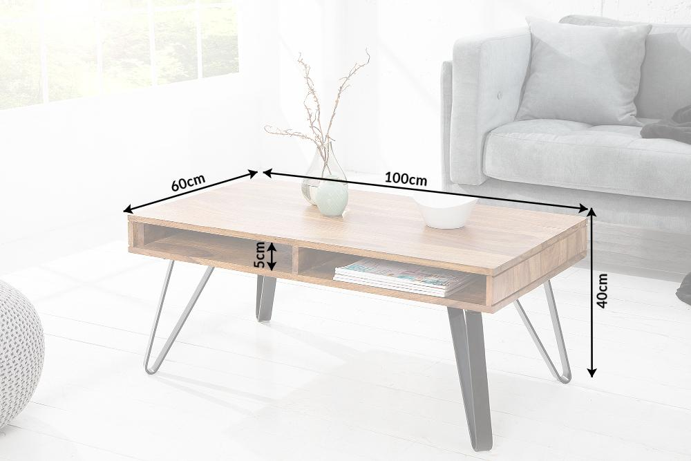 Solid Wood INDIANA Shine Coffee Table