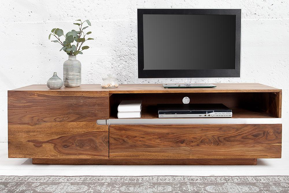 Solid Wood Shine Tv Unit