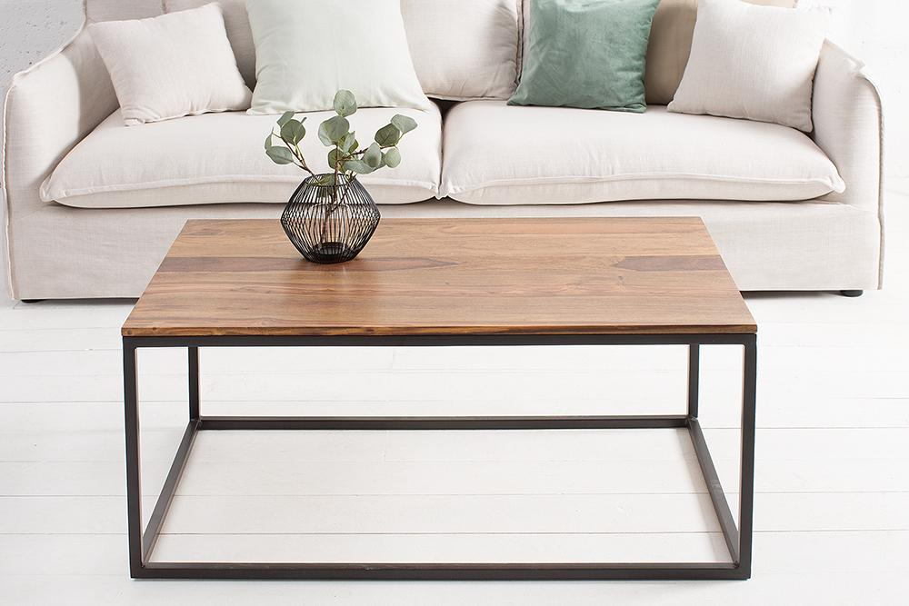 Solid Wood Indiana Rock Coffee Table Rectangle