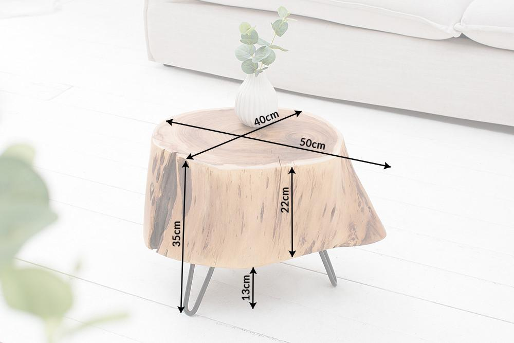 Solid Wood INDIANA Pod Stool
