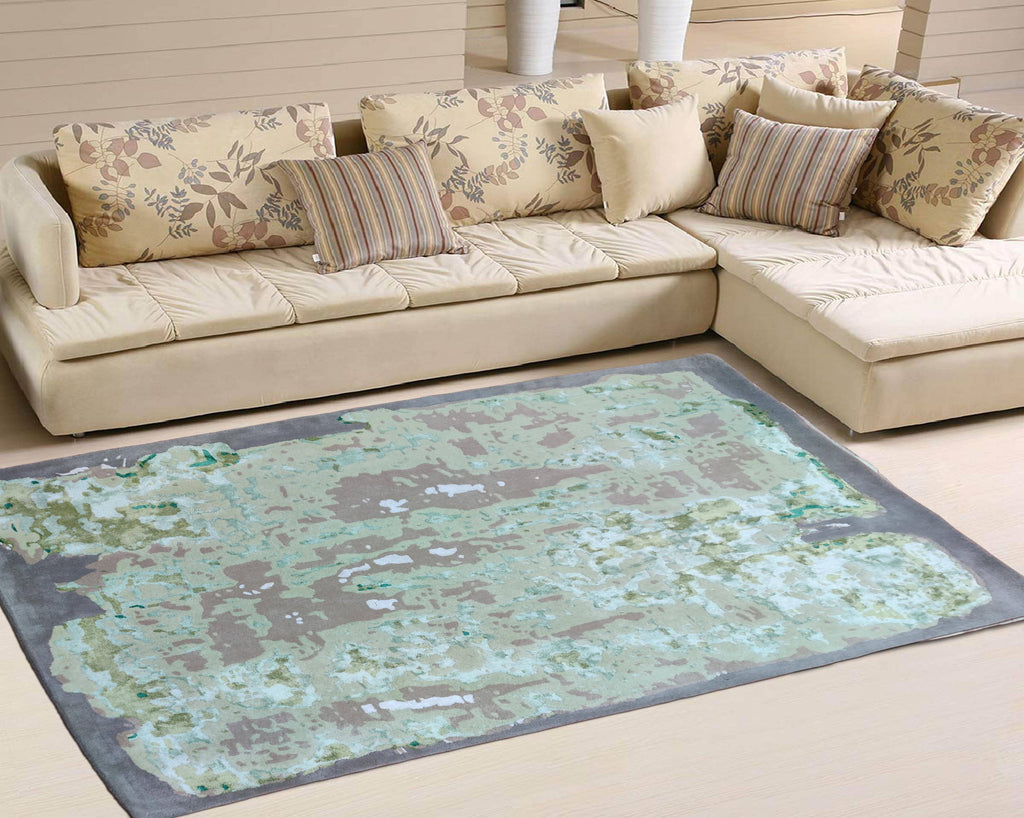 Serene Hand Tufted Bamboo Silk Carpet 8 x 5.5