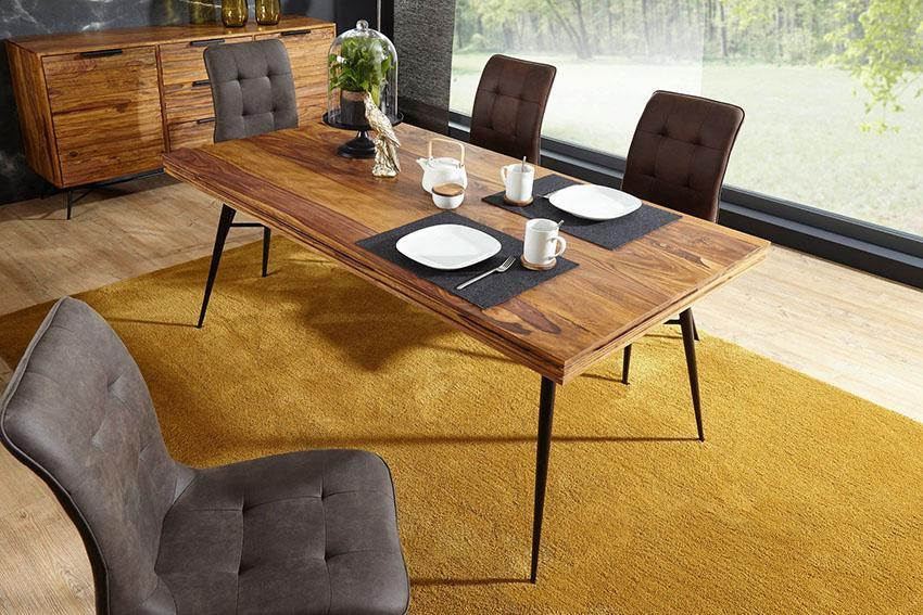 Solid Wood INDIANA Lass Dining Table