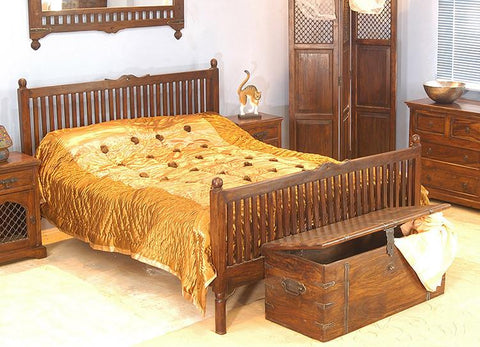 Solid Wood Jodhpur Bed