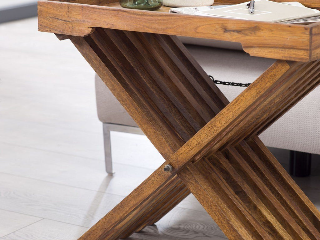 Solid Wood Tray Table Stool