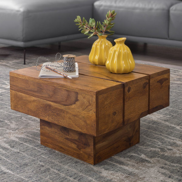 Solid Wood Contrast Lamp Table