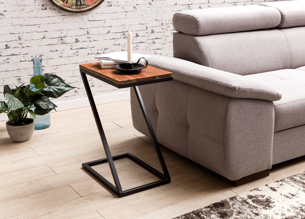 Solid Wood Z Shaped Sofa Table