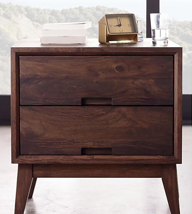 Solid Wood Rayon Bedside Table