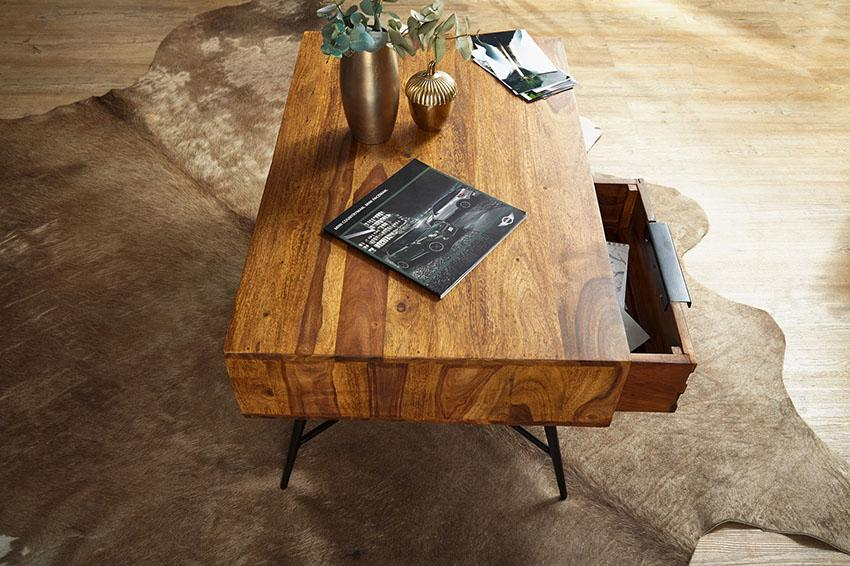 Solid Wood INDIANA Lass Coffee Table