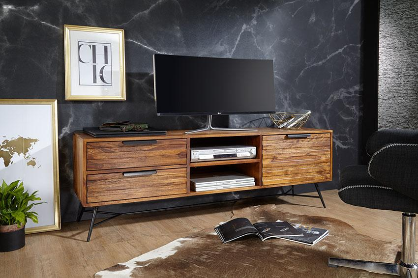 Solid Wood INDIANA Lass Tv Unit