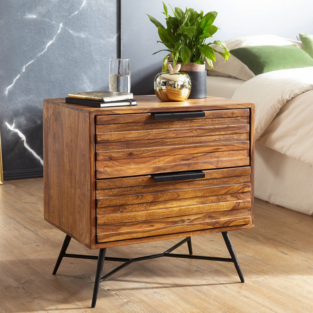 Solid Wood LASS Bedside Table
