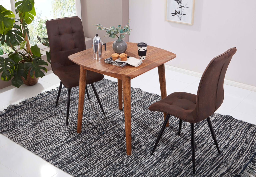 Solid Wood Eva Dining Table 2 Seater