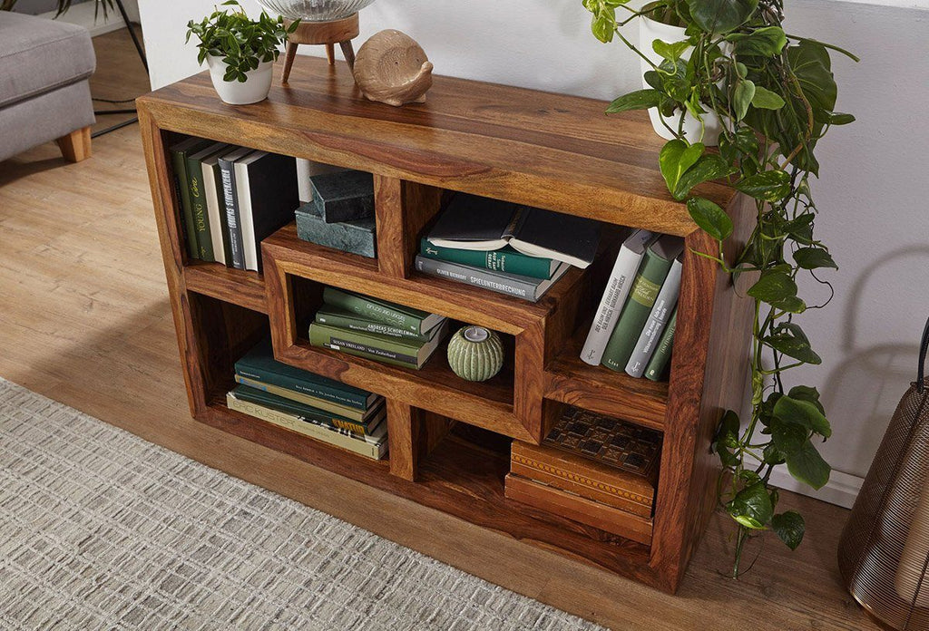 Solid Wood Floor Low Bookcase