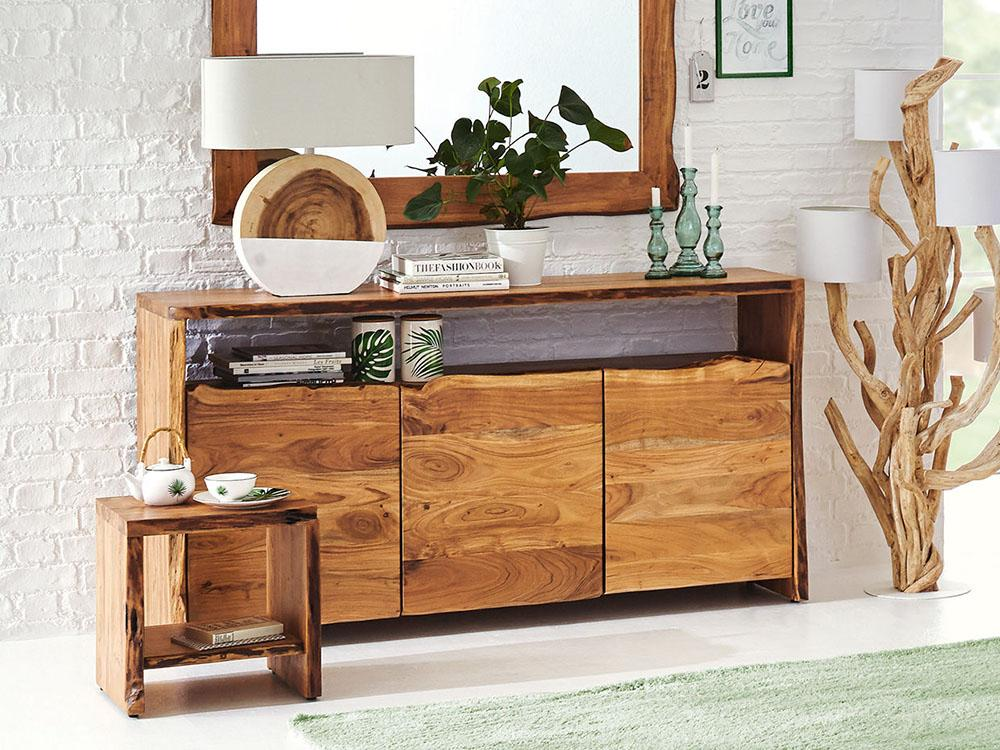 Solid Wood INDIANA Thar Sideboard 3 Doors