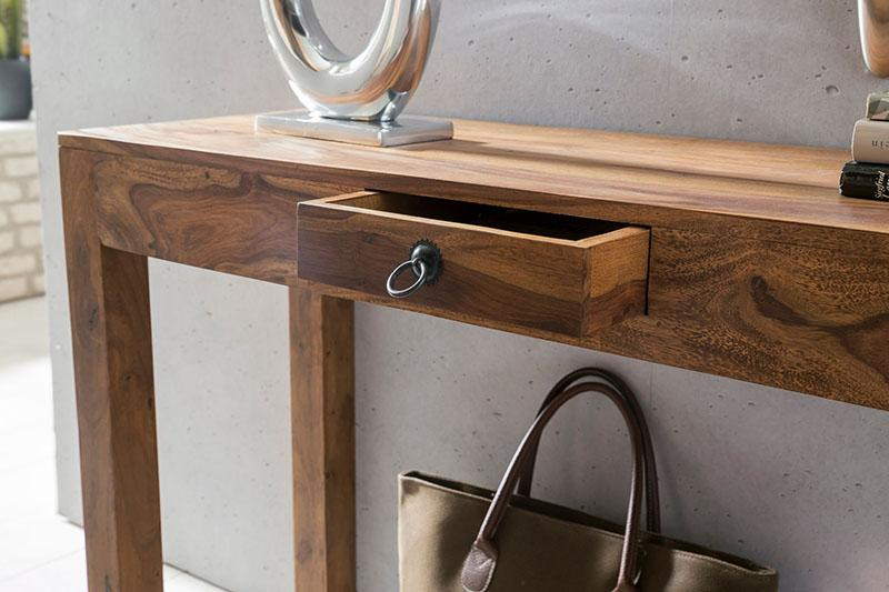 Solid Wood Cube Console Table