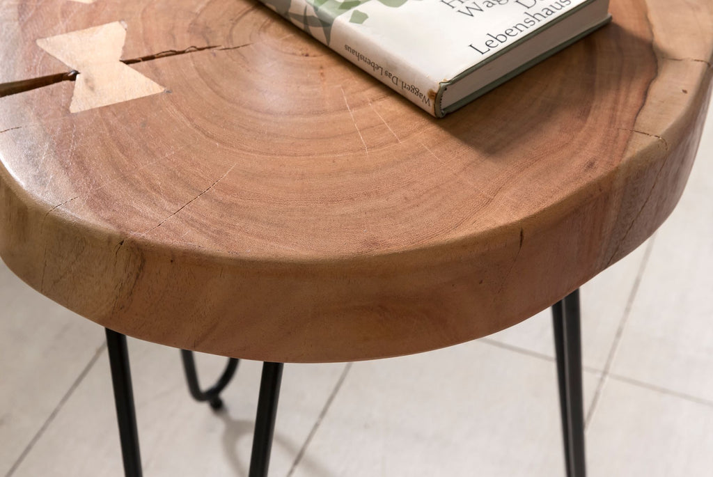Solid Wood INDIANA Lamp Table
