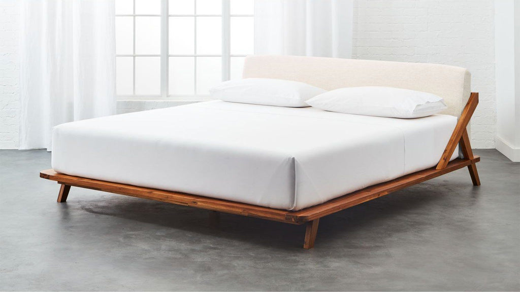 Solid Wood Bolton Platform Bed with Upholstered Headboard
