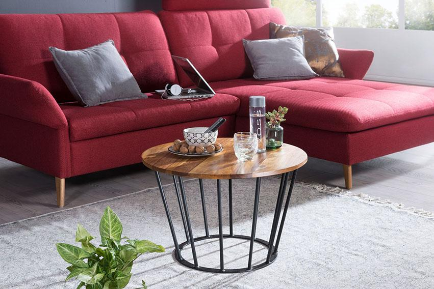 Solid Wood Indiana Round Coffee Table