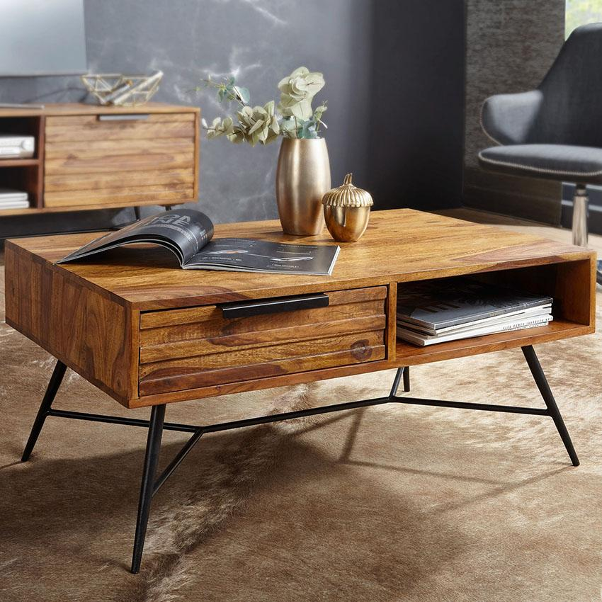 Buy Solid Wood Indiana Lass Coffee Table Online New Launch Tv