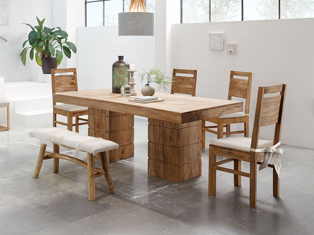 Solid Wood New Frozen Dining Set 2 & 4 Seater