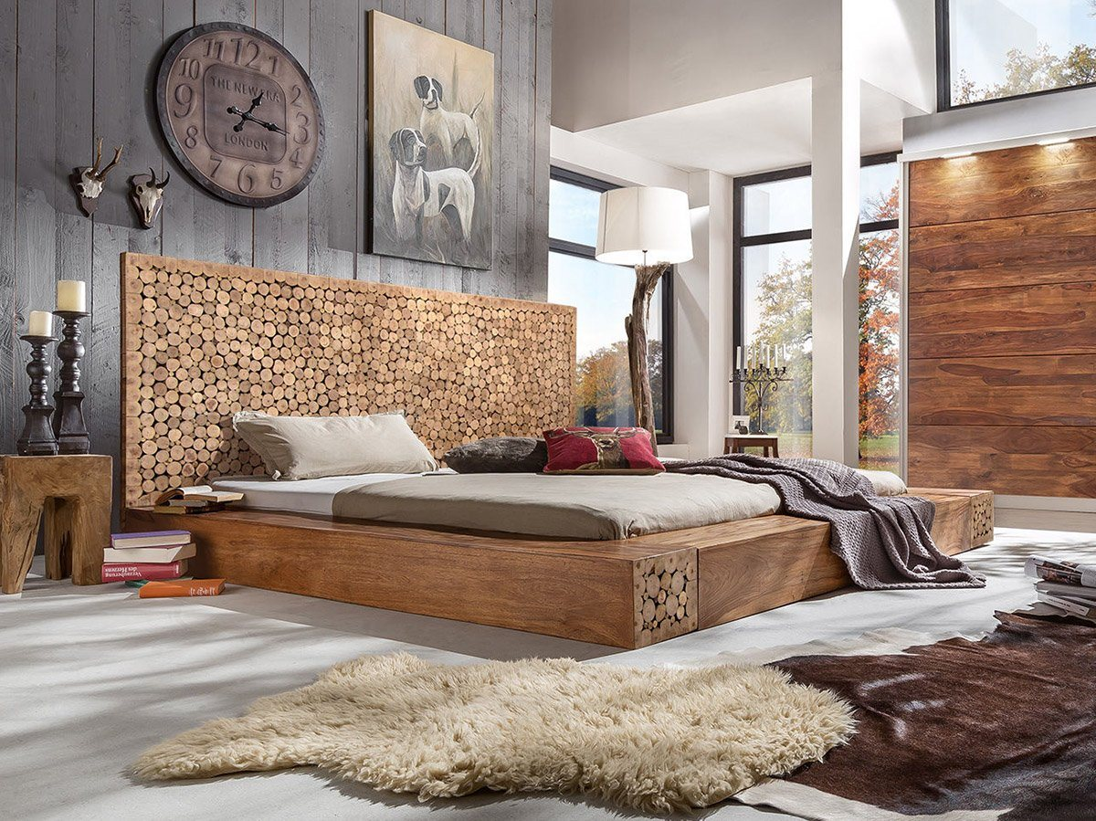Buy Solid Wood Indiana Woodtree Bed Buy Bed Online In India