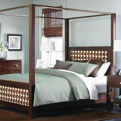 Solid Wood Poster Bed Romeo Brass Royale