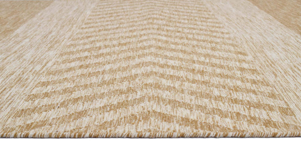 Ellipse Blended Wool Handwoven Panja Dhurry Carpet 7.5 x 5