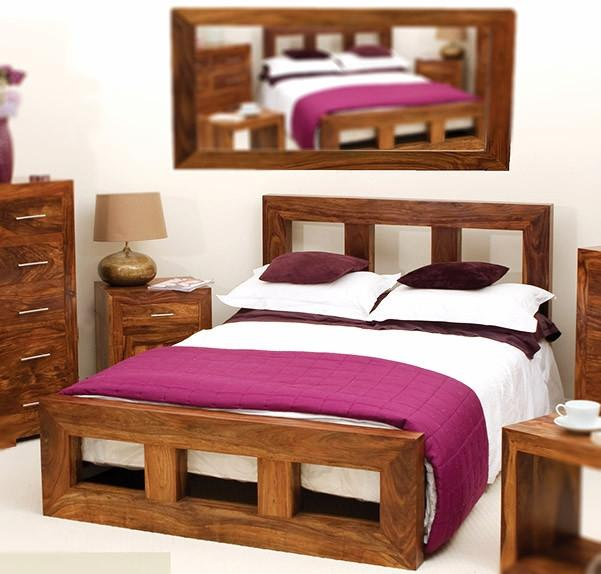 Solid Wood Bed - Cube Bed