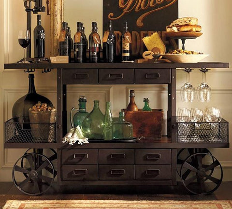 Solid Wood Indiana Caravan Bar