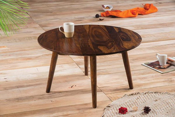 Solid Wood Buck Round Coffee Table