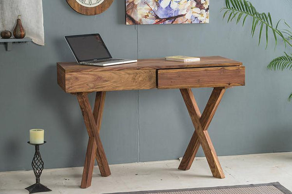 Solid Wood Charlie Study Table with 2 Drawers