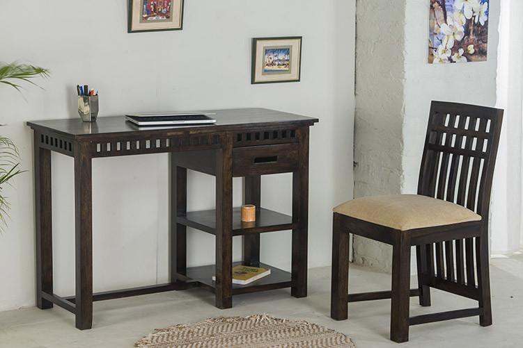 Solid Wood Kuber Writing / Study Table