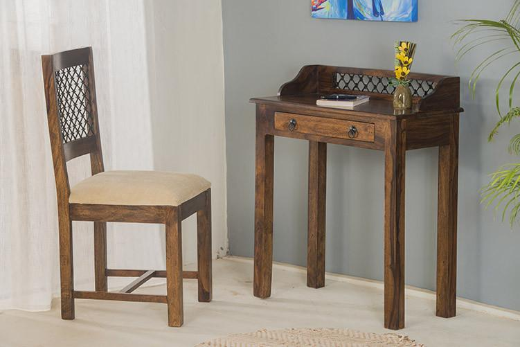 Buy Solid Wood Jail Writing Study Table Online New Launches Study