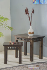Solid Wood Kuber Nest of 2 Tables