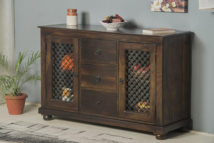 Solid Wood Jali Sideboard