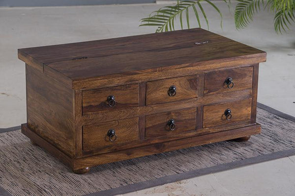 Solid Wood Capital Box Coffee Table