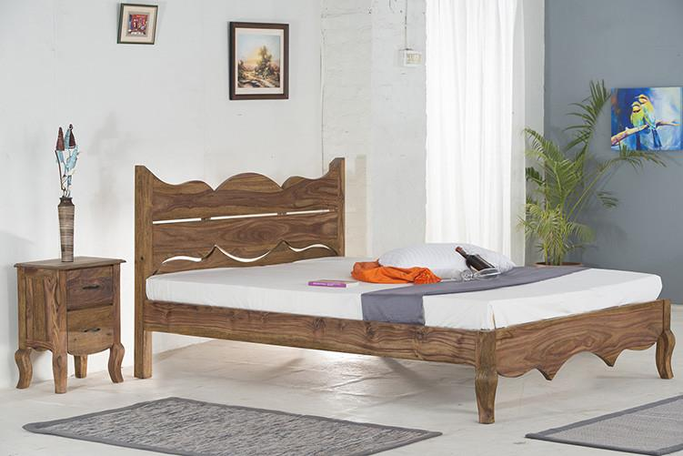Solid Sheesham Wood bed - Tania Grand Bed