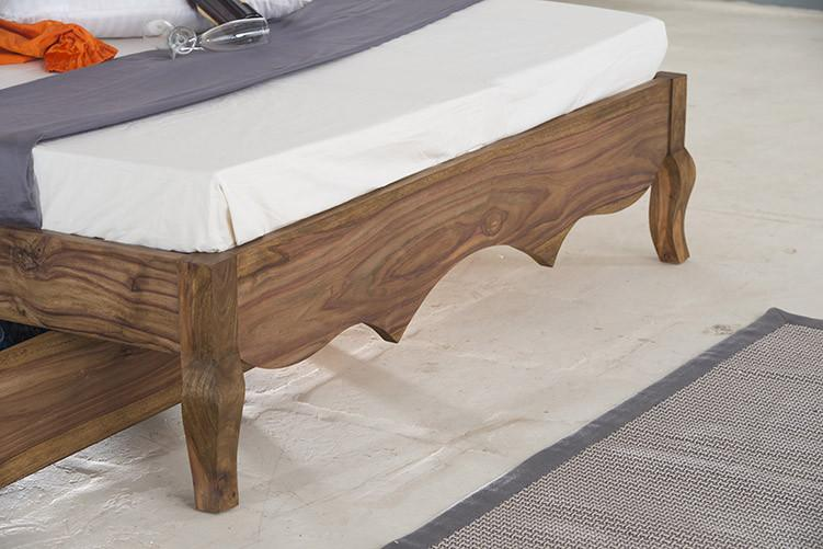 With Trolley Storaage- Solid Sheesham Wood bed - Tania Grand Bed