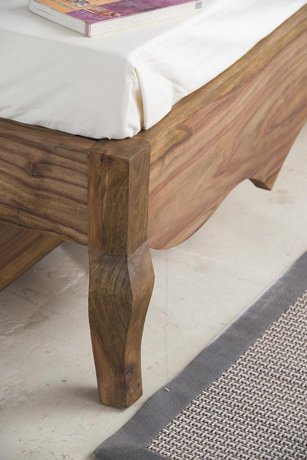 With Trolley -Solid Sheesham Wood bed - Tania Grand Bed