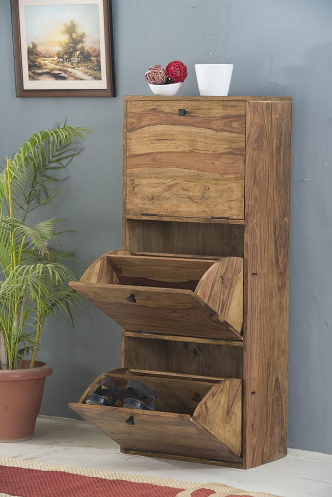 Buy Solid Wood Turner Shoe Rack Online New Launches Shoe